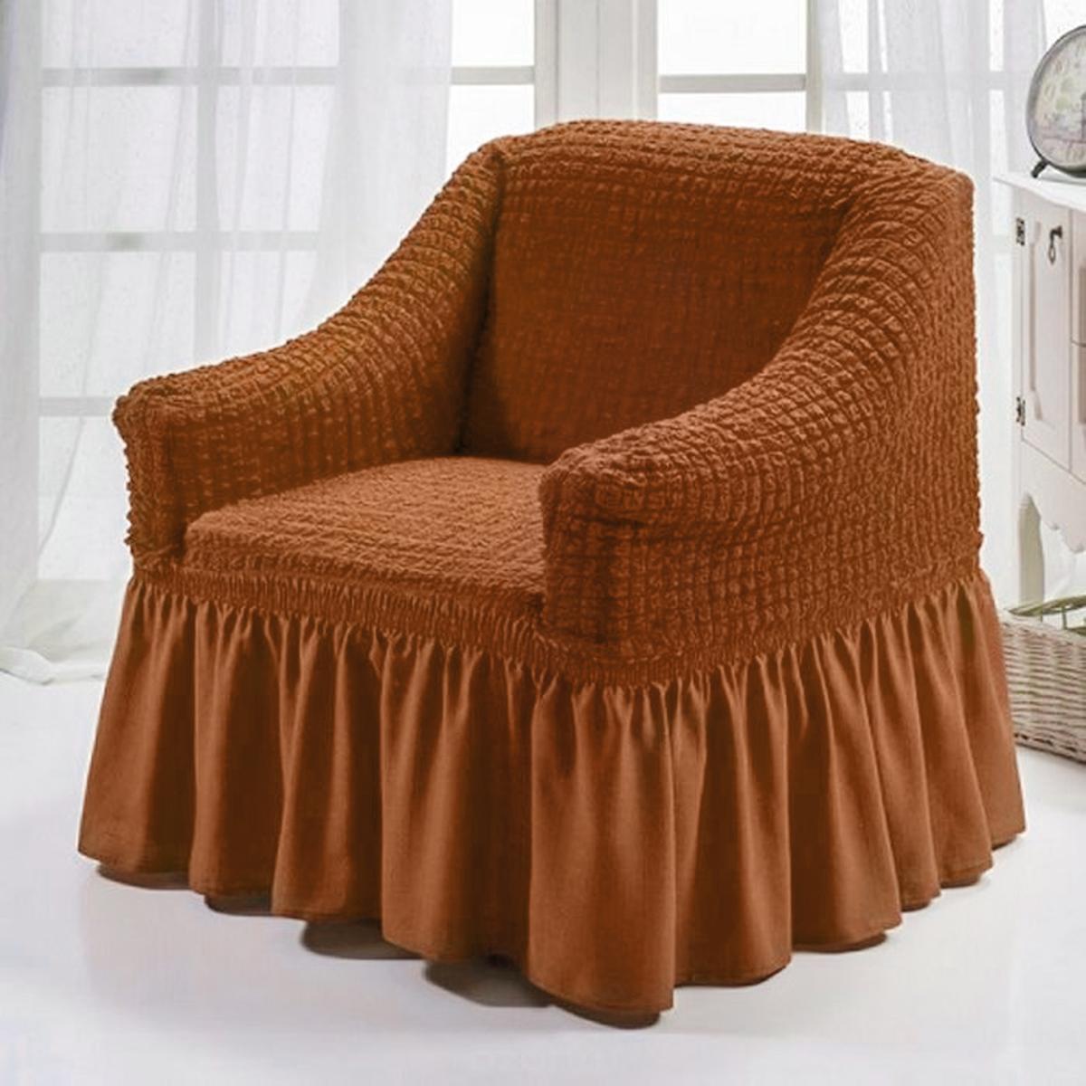 Чехол для кресла Karna Bulsan, цвет: горчичный bulsan набор чехлов для дивана bulsan цвет горчичный