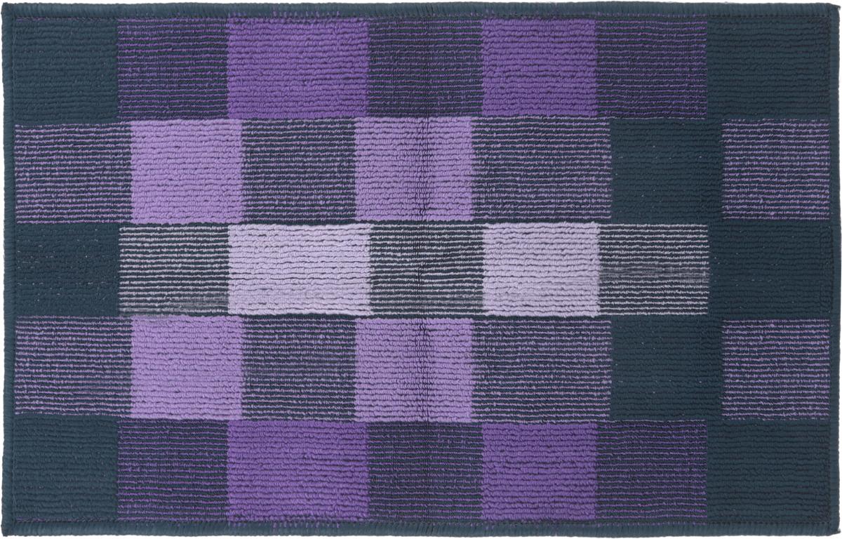 Коврик придверный Vortex Palermo, цвет: синий, сиреневый, 50 х 80 см. 22454 коврик придверный vortex ботинки цвет черный 45 х 75 см