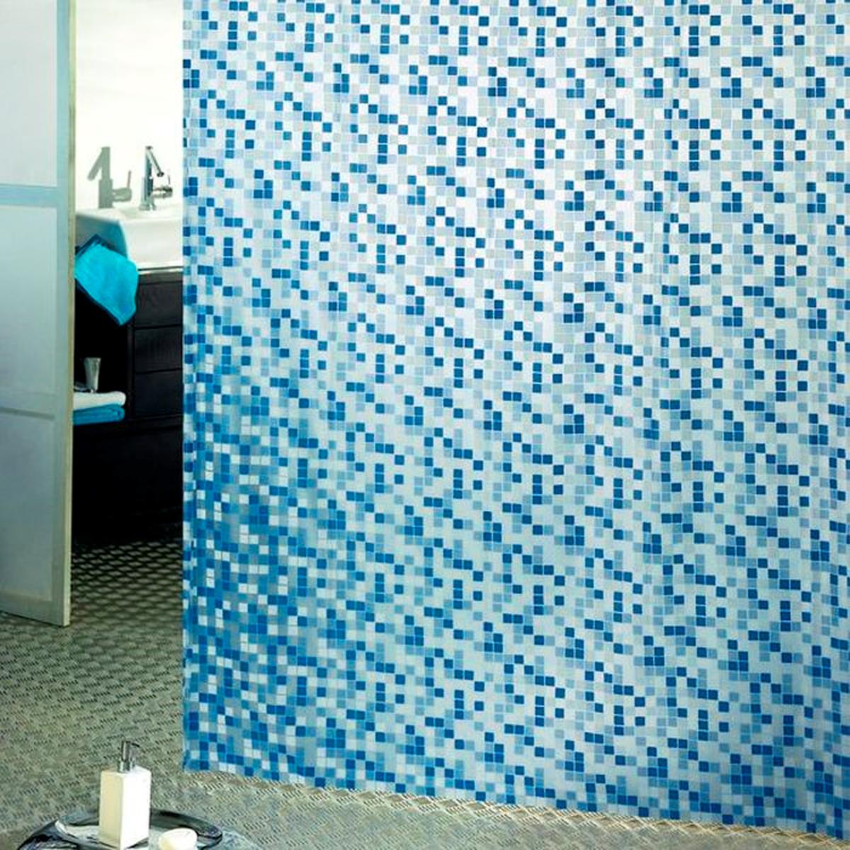 Влагонепроницаемая, надежная, долговечная и практичная штора для ванной от производителя  с мировым именем Bacchetta. Выполнена штора из высококачественного ПВХ. Технология  производства изделий отвечает новейшим европейским стандартам. Полотна отличаются  высочайшими качественными характеристиками: высокими показателями износостойкости,  прочности, цветостойкости и цветопередачи. Рисунок орнамента выполнен с применением  тиснения, что создает визуальное ощущение объемности рисунка, это стильно выглядит в ванной  комнате любого размера, рисунок не создает визуального нагромождения. Штора обладает  высокой прочностью, в комплекте предусмотрено 12 пластиковых колец. Штора со временем не  выцветает, а рисунок не вымывается. Изделие легко моется и быстро сохнет.