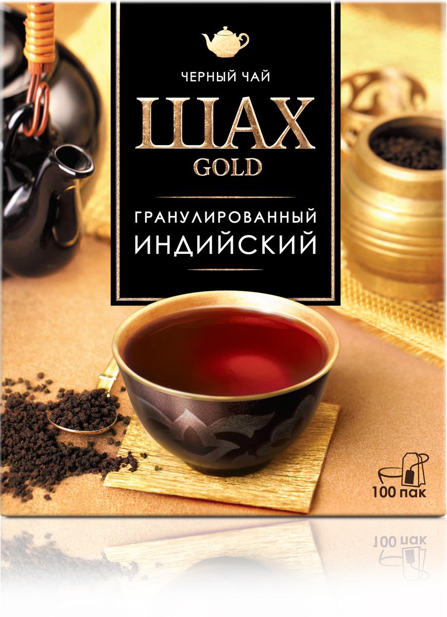 Шах голд черный гранулированный чай в пакетиках, 100 шт шах голд черный гранулированный чай 90 г