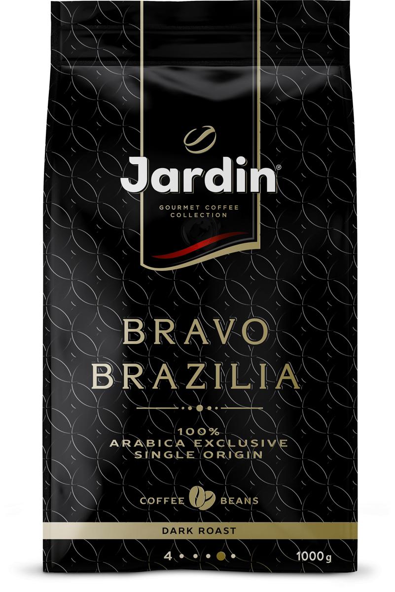 Jardin Bravo Brazilia кофе в зернах, 1000 г1347-06Специально подобранный сорт бразильской Арабики для идеально сбалансированного эспрессо с плотной кремовой текстурой и богатым сливочным послевкусием. 100% эксклюзивная арабика из Бразилии.