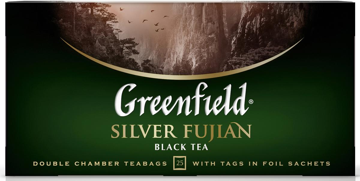 Greenfield Silver Fujian черный чай в пакетиках, 25 шт c pe153 yunnan run pin 7262 семь сыну пуэр спелый чай здравоохранение чай puerh китайский чай pu er 357g зеленая пища
