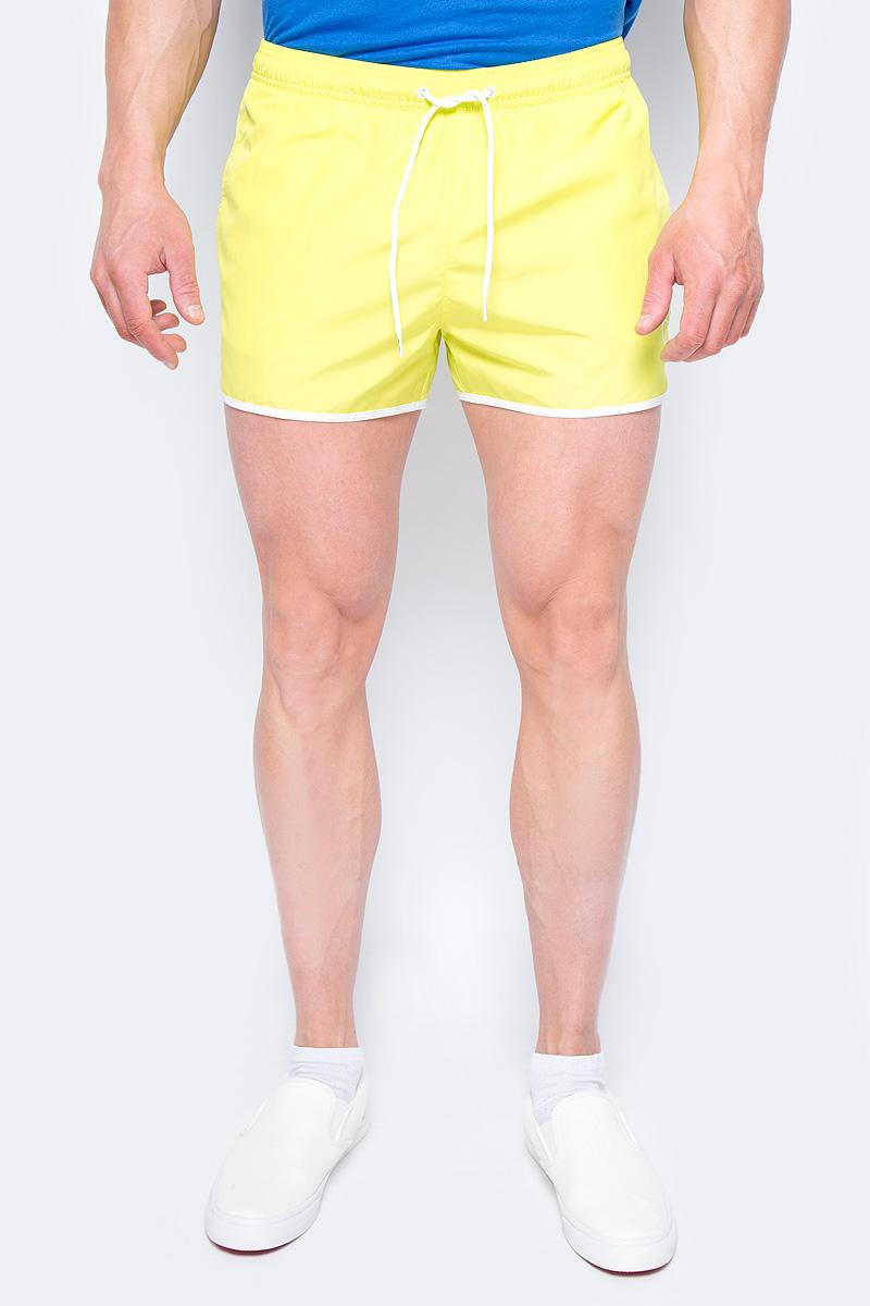 Шорты купальные мужские Calvin Klein Underwear, цвет: желтый. KM0KM00136_311. Размер M (48)KM0KM00136_311