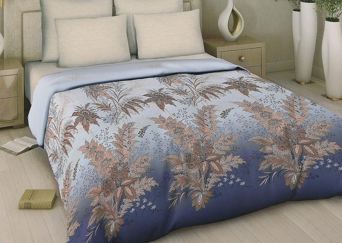 Комплект белья Арт Деко Ослепительная роскошь, 1,5-спальный, наволочки 70 x 70, цвет: голубой. 7340
