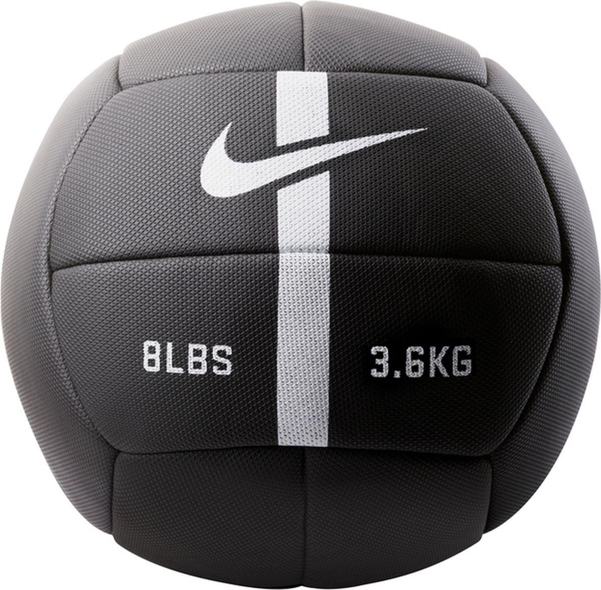 Мяч для фитнеса Nike Strength Training Ball, цвет: черный, белый. N.EW.05.010.NS cкакалка nike weighted rope 2 0 ns grey black bright citrus