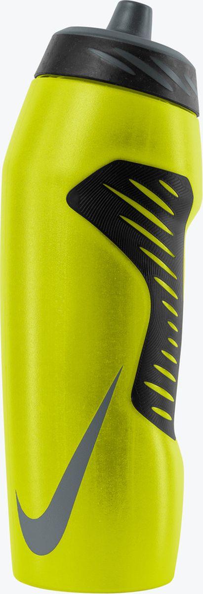 Бутылка для воды Nike Hyperfuel, цвет: желтый, черный, темно-серый, 946 млN.OB.A6.726.32Экологически чистая Бутылка для воды Nike Hyperfuel оснащена герметичным носиком с клапаном, который обеспечивает быстрый поток воды во время питья и предотвращает утечку, когда бутылка не используется. Прозрачный корпус позволяет отслеживать расход жидкости во время тренировки. Эргономичная форма и накладки для лучшего сцепления, размещенные в стратегически важных местах, обеспечивают удобство использования. Гибкий материал обеспечивает повышенную сжимаемость для более быстрого потока воды.Не содержит BPA, 946 мл.