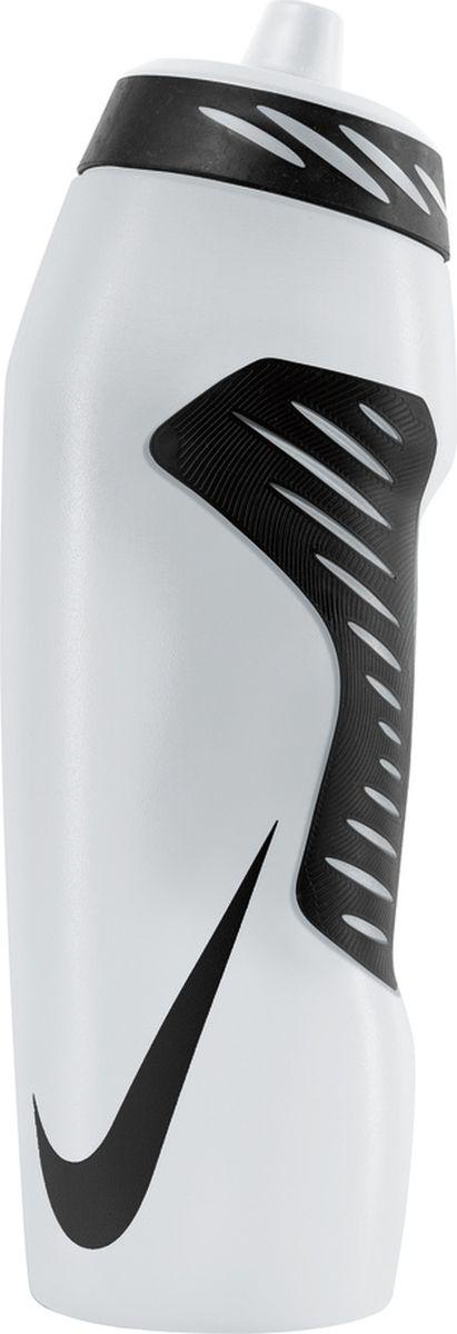 Бутылка для воды Nike Hyperfuel, цвет: прозрачный, черный, 946 млN.OB.A6.968.32Экологически чистая Бутылка для воды Nike Hyperfuel оснащена герметичным носиком с клапаном, который обеспечивает быстрый поток воды во время питья и предотвращает утечку, когда бутылка не используется. Прозрачный корпус позволяет отслеживать расход жидкости во время тренировки. Эргономичная форма и накладки для лучшего сцепления, размещенные в стратегически важных местах, обеспечивают удобство использования. Гибкий материал обеспечивает повышенную сжимаемость для более быстрого потока воды.Не содержит BPA, 946 мл.