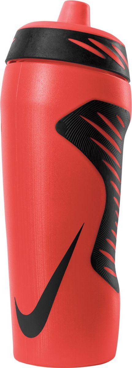 """Экологически чистая Бутылка для воды Nike """"Hyperfuel"""" оснащена герметичным носиком с клапаном, который обеспечивает быстрый поток воды во время питья и предотвращает утечку, когда бутылка не используется. Прозрачный корпус позволяет отслеживать расход жидкости во время тренировки. Эргономичная форма и накладки для лучшего сцепления, размещенные в стратегически важных местах, обеспечивают удобство использования. Гибкий материал обеспечивает повышенную сжимаемость для более быстрого потока воды.Не содержит BPA, объем 532 мл."""