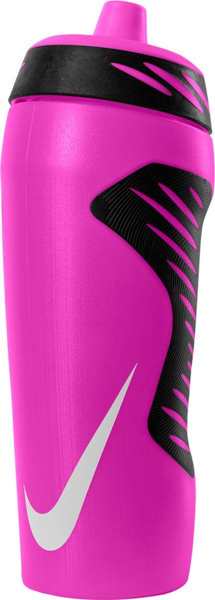 Бутылка для воды Nike Hyperfuel, цвет: розовый, черный, белый, 532 мл бутылка для воды sistema hydrate трио цвет фиолетовый 480 мл 820