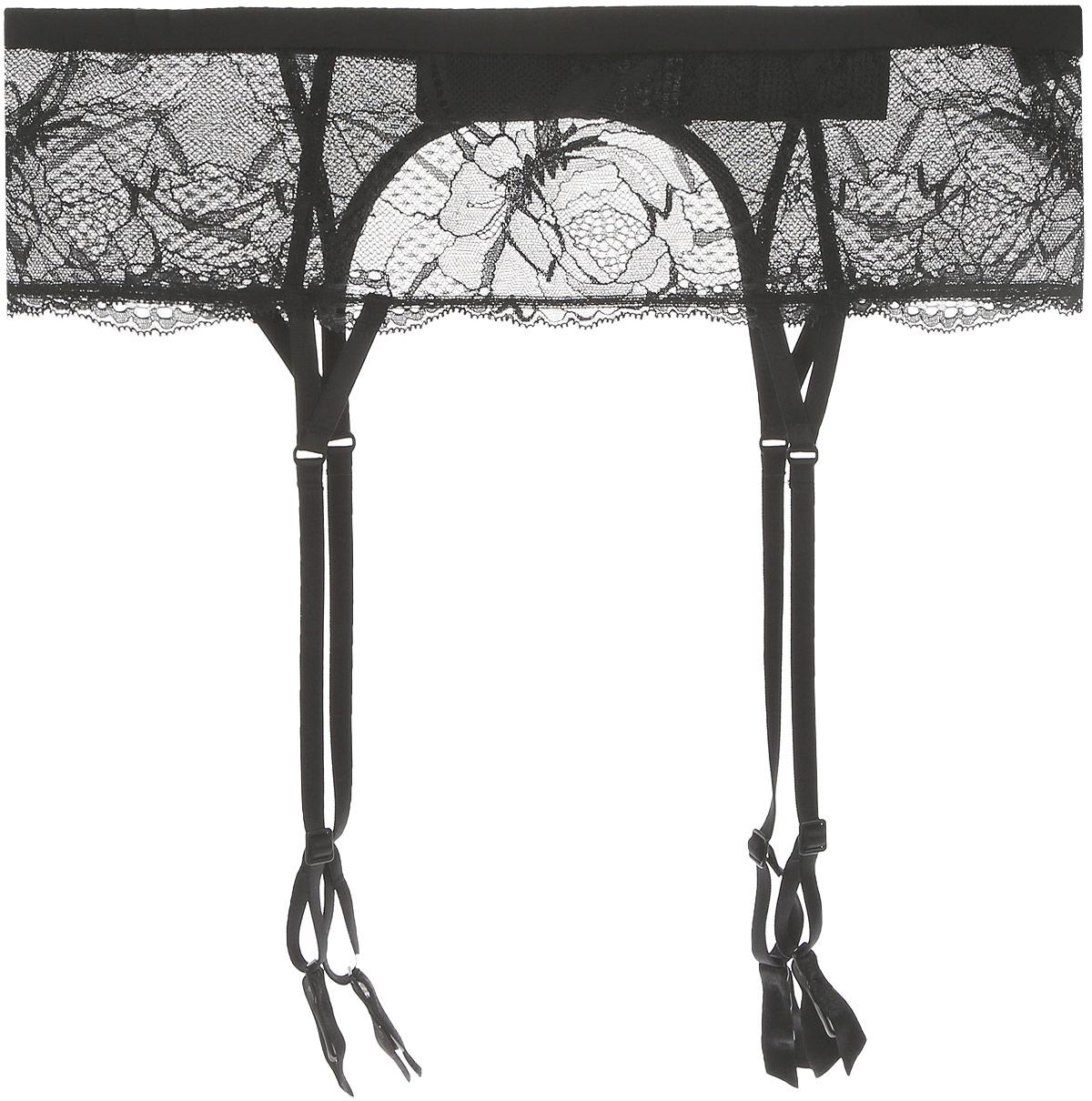 Пояс для чулок Calvin Klein Underwear, цвет: черный. QF4572E_001. Размер S (44)QF4572E_001Пояс для чулок Calvin Klein Underwear позволит вам продемонстрировать свою уверенность и женственность и создаст незабываемый образ! Пояс выполнен из эластичного материала в сочетании с тонким воздушным кружевом. Подвязки с прищепками регулируются по длине. Изделие застегивается сзади на два крючка.