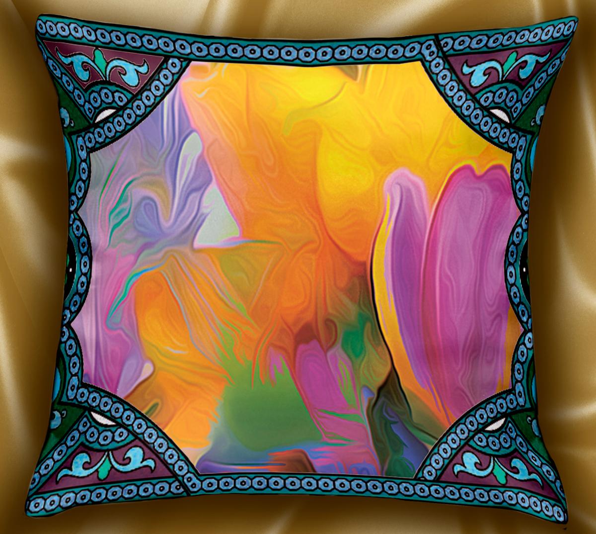 Подушка декоративная МарТекс Фэнтези, цвет: фиолетовый, 45 х 45 см. 16-1235-116-1235-1Декоративная подушка, рисунок выполнен методом фотопечати. Наполнение полое силиконизированное волокно Hollow Fiber.
