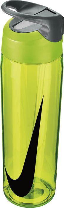 Бутылка для воды Nike TR Hypercharge Straw, цвет: желтый, серый, черный, 709 млN.OB.E3.739.24Экологически чистая Бутылка для воды Nike TR Hypercharge Straw. Инновационная кнопка-слайдер для открытия/закрытия одной рукой. Съемный мягкий наконечник трубочки для удобства очистки. Удобная эргономичная ручка. Надежная ударопрочная конструкция. Объем 709 мл.