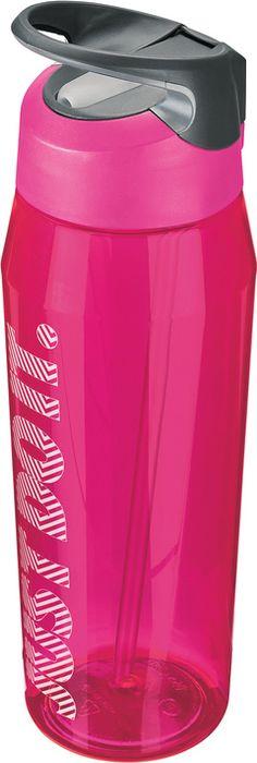 Бутылка для воды Nike TR Hypercharge Straw, цвет: розовый, серый, белый, 946 млN.OB.E2.617.32Экологически чистая Бутылка для воды Nike TR Hypercharge Straw. Инновационная кнопка-слайдер для открытия/закрытия одной рукой. Съемный мягкий наконечник трубочки для удобства очистки. Удобная эргономичная ручка. Надежная ударопрочная конструкция. Объем 946 мл.