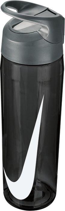 Бутылка для воды Nike TR Hypercharge Straw, цвет: серый, белый, 709 мл бутылка для воды sistema hydrate трио цвет фиолетовый 480 мл 820