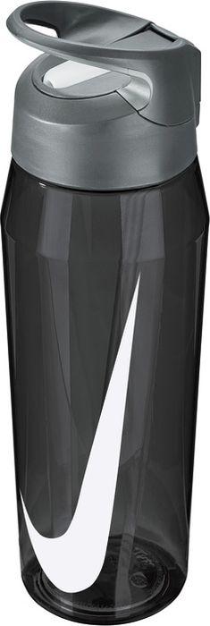 Бутылка для воды Nike TR Hypercharge Straw, цвет: серый, белый, 946 мл бутылка для воды sistema hydrate трио цвет фиолетовый 480 мл 820