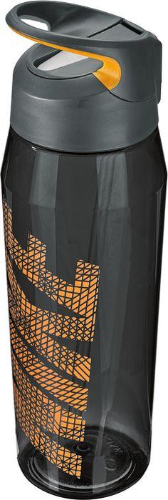 Бутылка для воды Nike TR Hypercharge Straw, цвет: серый, оранжевый, 946 мл бутылка для воды sistema hydrate трио цвет фиолетовый 480 мл 820