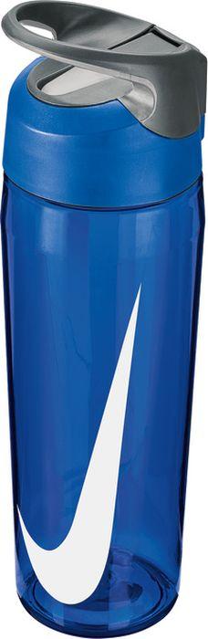 Бутылка для воды Nike TR Hypercharge Straw, цвет: синий, серый, белый, 709 млN.OB.E3.445.24Экологически чистая Бутылка для воды Nike TR Hypercharge Straw. Инновационная кнопка-слайдер для открытия/закрытия одной рукой. Съемный мягкий наконечник трубочки для удобства очистки. Удобная эргономичная ручка. Надежная ударопрочная конструкция. Объем 709 мл.