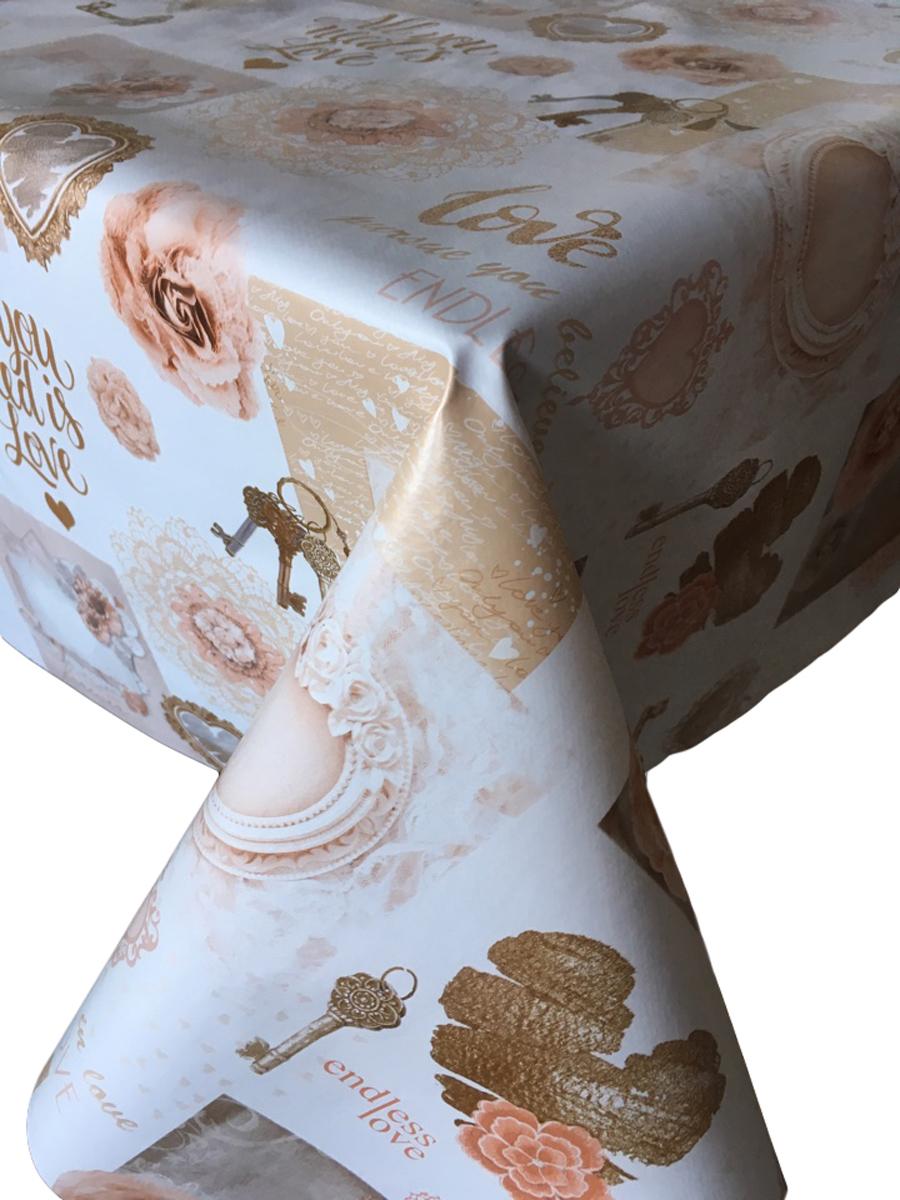 Клеенка столовая L'Cadesi Florista, прямоугольная, 100 х 140 см. FL100140-368-03