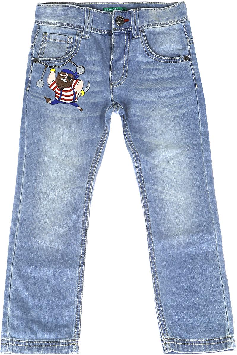 Джинсы для мальчика United Colors of Benetton, цвет: голубой. 4XR6573FP_902. Размер 100 джинсы для мальчика united colors of benetton цвет голубой 4xr657fl0 901 размер 160