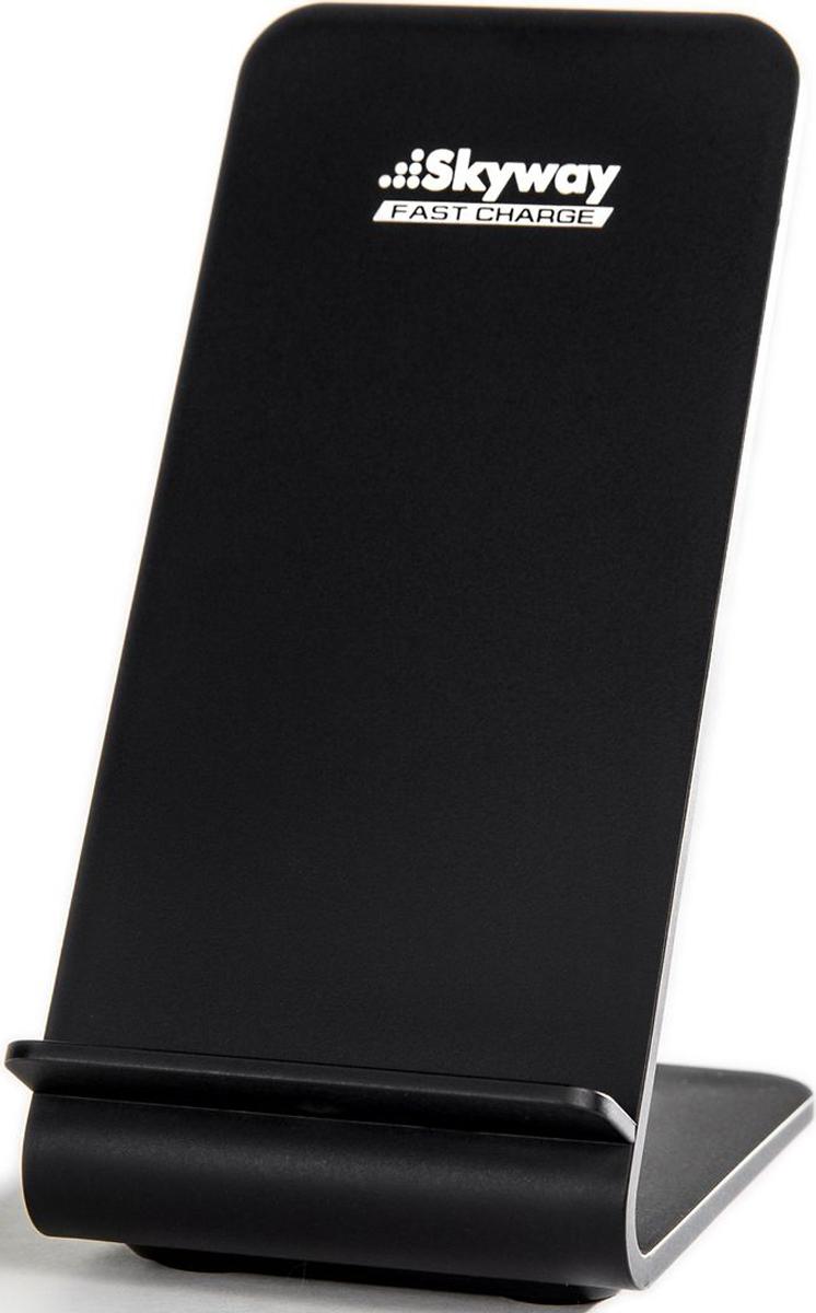 Skyway Energy Fast, Black беспроводное зарядное устройствоCB001319227Мощная беспроводная зарядная подставка Skyway Energy Fast предназначена для быстрой беспроводной зарядки смартфонов поддерживающих QI-технологию. С зарядкой Skyway Energy Fast вы избавитесь от беспорядочно разбросанных по столу проводов для зарядки и необходимости постоянно подзаряжать телефон в течении дня - всего лишь поставьте свой смартфон на подставку Skyway Energy Fast, и он автоматически начнет заряжаться.Зарядная подставка Skyway Energy Fast, всего за 2.5 часа зарядит до полной зарядки смартфон с функцией быстрой зарядки Quick Charge, это на 30% быстрее обычной беспроводной зарядной панели! С помощью Skyway Energy Fast вы с легкостью сможете общаться по телефону, Skype, WhatsApp, Viber или ввести трансляцию в Instagram и periscope, при этом руки ваши будут свободны, а смартфон не разрядиться и даже будет параллельно заряжаться.Наличии двух индукционных катушек, сделают доступным размещения смартфона на зарядке не только в вертикальном, но и в горизонтальном положении, в котором вы сможете просматривать фильмы с телефона, не переживая за то, что он может разрядиться. Эргономичный угол наклона, и небольшие размеры, позволят комфортно разместить зарядное устройство на вашем столе, вместе с этим сам смартфон на подставке Skyway Energy Fast гармонично впишется в любой домашний или офисный интерьер. Быстрая зарядка Skyway Energy Fast значительно уменьшает время зарядки, за счет этого телефон будет меньше нагреваться. Производство Skyway Energy Fast находиться под строгим контролем российских инженеров компании Skyway, что обеспечивает высокое качество сборки и комплектующих. Skyway Energy Fast поддерживает моделиSamsung: S9/S9+/Note8/S8/S8+/S7 edge/S7/Note5/S6 edge plus/S6 edge/S6 Apple: iPhone 8 / iPhone 8 Plus / iPhone X И другие смартфоны с поддержкой беспроводной зарядкой по технологии QI.