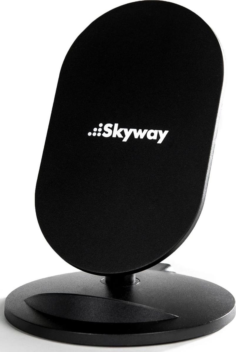 Skyway Energy Flash, Black беспроводное зарядное устройствоCB001319226Зарядная подставка Skyway Flash предназначена для беспроводной зарядки смартфонов поддерживающих QI-технологию. С беспроводной зарядкой Skyway Flash вы избавитесь от беспорядочно разбросанных по столу проводов для зарядки и необходимости постоянно подзаряжать телефон в течении дня - всего лишь поставьте свой смартфон на подставку Skyway Flash, и он автоматически начнет заряжаться.С помощью Skyway Flash вы с легкостью сможете общаться по телефону, Skype, WhatsApp, Viber или ввести трансляцию в Instagram и periscope, при этом руки ваши будут свободны, а смартфон не разрядиться и даже будет параллельно заряжаться.Эргономичный угол наклона, и небольшие размеры, позволят комфортно разместить зарядное устройство на вашем столе, вместе с этим сам смартфон на подставке Skyway Flash гармонично впишется в любой интерьер. Благодаря специальной резиновой накладке на нижней части зарядной подставки Skyway Flash, ваш телефон будет надежно закреплен. Безопасность Skyway Flash обеспечивает полноценная защита от короткого замыкания, перезаряда, переразряда, перегрузки и от перегрева смартфона. Производство Skyway Flash находиться под строгим контролем российских инженеров компании Skyway, что обеспечивает высокое качество сборки и комплектующих. Skyway Flash поддерживает моделиSamsung: S9/S9+/Note8/S8/S8+/S7 edge/S7/Note5/S6 edge plus/S6 edge/S6 Apple: iPhone 8 / iPhone 8 Plus / iPhone X И другие смартфоны с поддержкой беспроводной зарядкой по технологии QI.