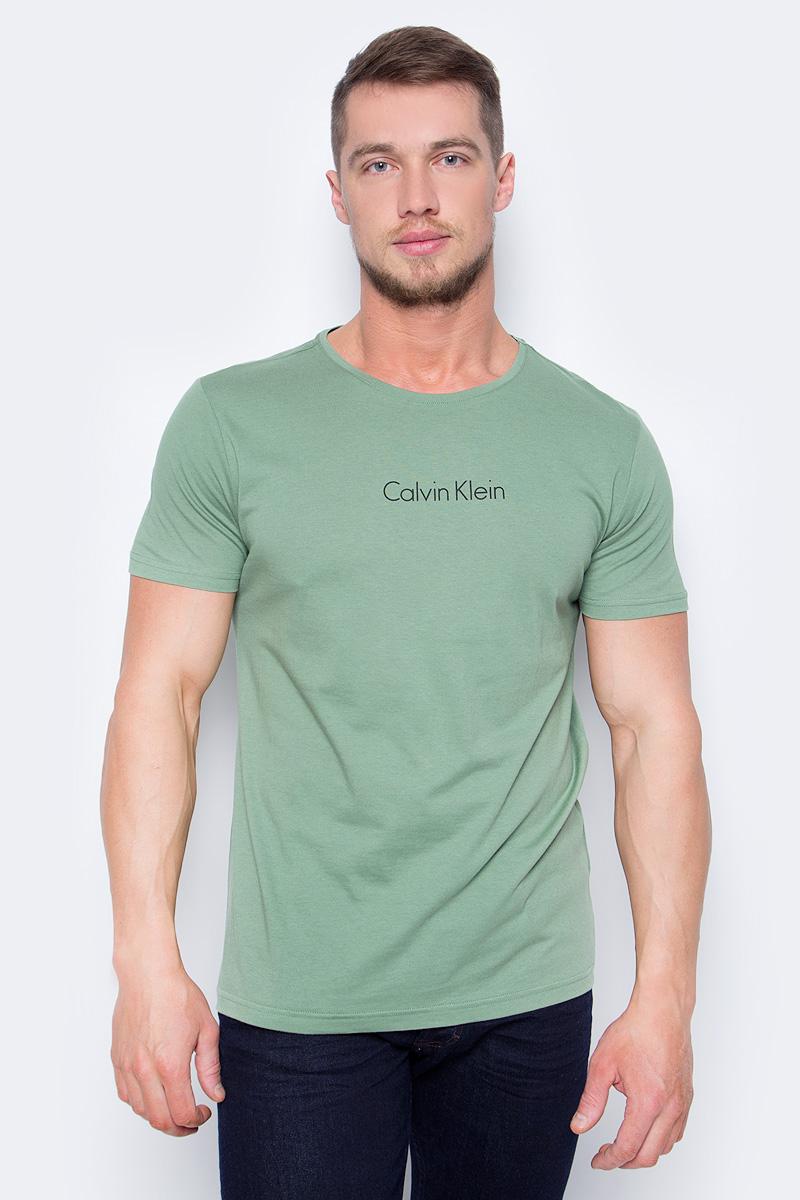 Футболка мужская Calvin Klein Underwear, цвет: зеленый. KM0KM00194. Размер M (48)KM0KM00194