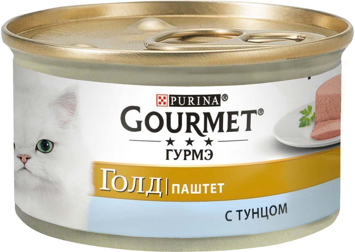 Консервы Gourmet Gold для кошек, паштет с тунцом, 85 г корм для кошек gourmet gold паштет с кроликом 85 г