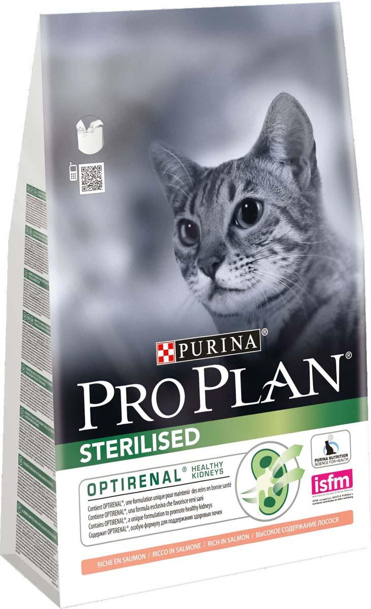 Корм сухой Pro Plan Sterilised для кастрированных котов и стерилизованных кошек, с лососем, 3 кг консервы purina pro plan для стерилизованных кошек и кастрированных котов с тунцом и лососем 85 г х 24 шт