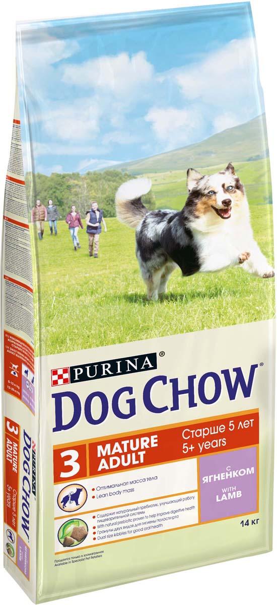 """Корм сухой """"Dog Chow"""" для взрослых собак старше 5 лет, с ягненком и рисом, 14 кг"""