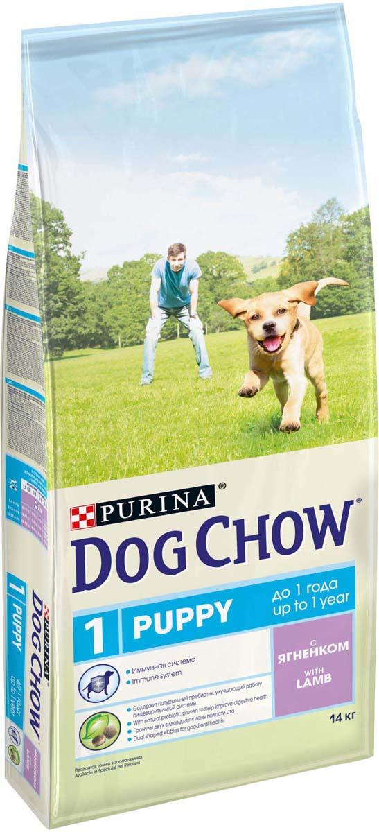 """Корм сухой для щенков """"Dog Chow"""", с ягненком, 14 кг"""
