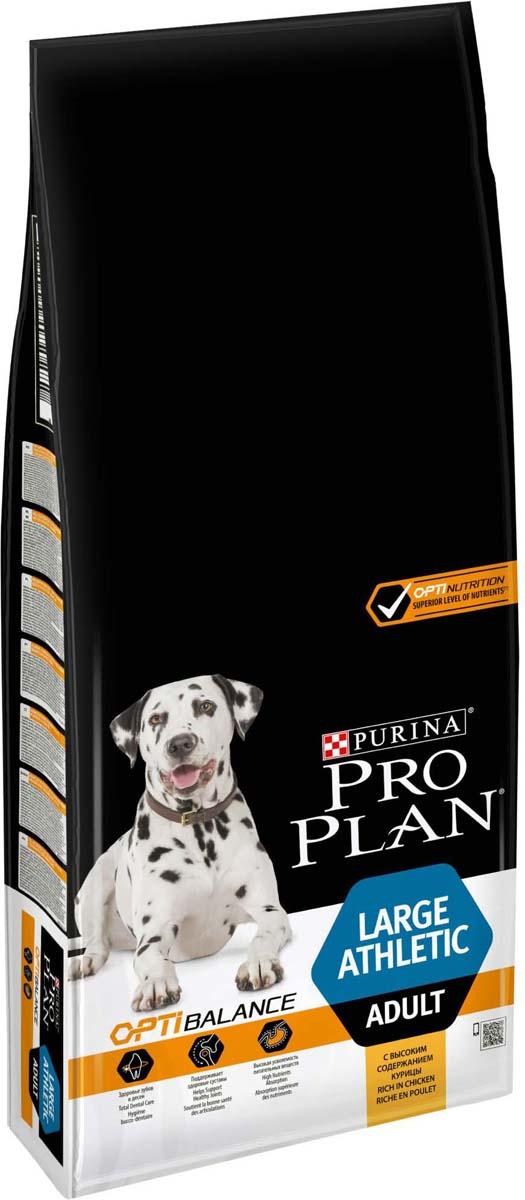 Корм сухой Pro Plan Adult Large Athletic, для собак крупных пород с атлетическим телосложением, с курицей, 14 кг корм сухой pro plan adult large robust для собак крупных пород с мощным телосложением с курицей 14 кг