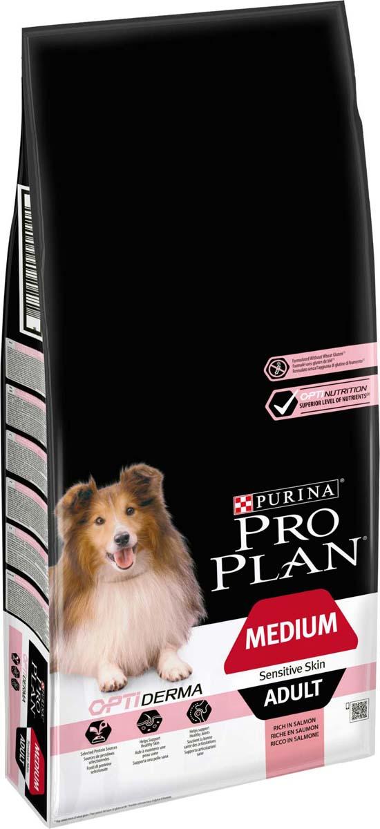 Корм сухой Pro Plan Adult Sensitive, для собак с чувствительным пищеварением и кожей, с лососем и рисом, 14 кг корм для собак pro plan athletic для крупных пород курица сух 14кг