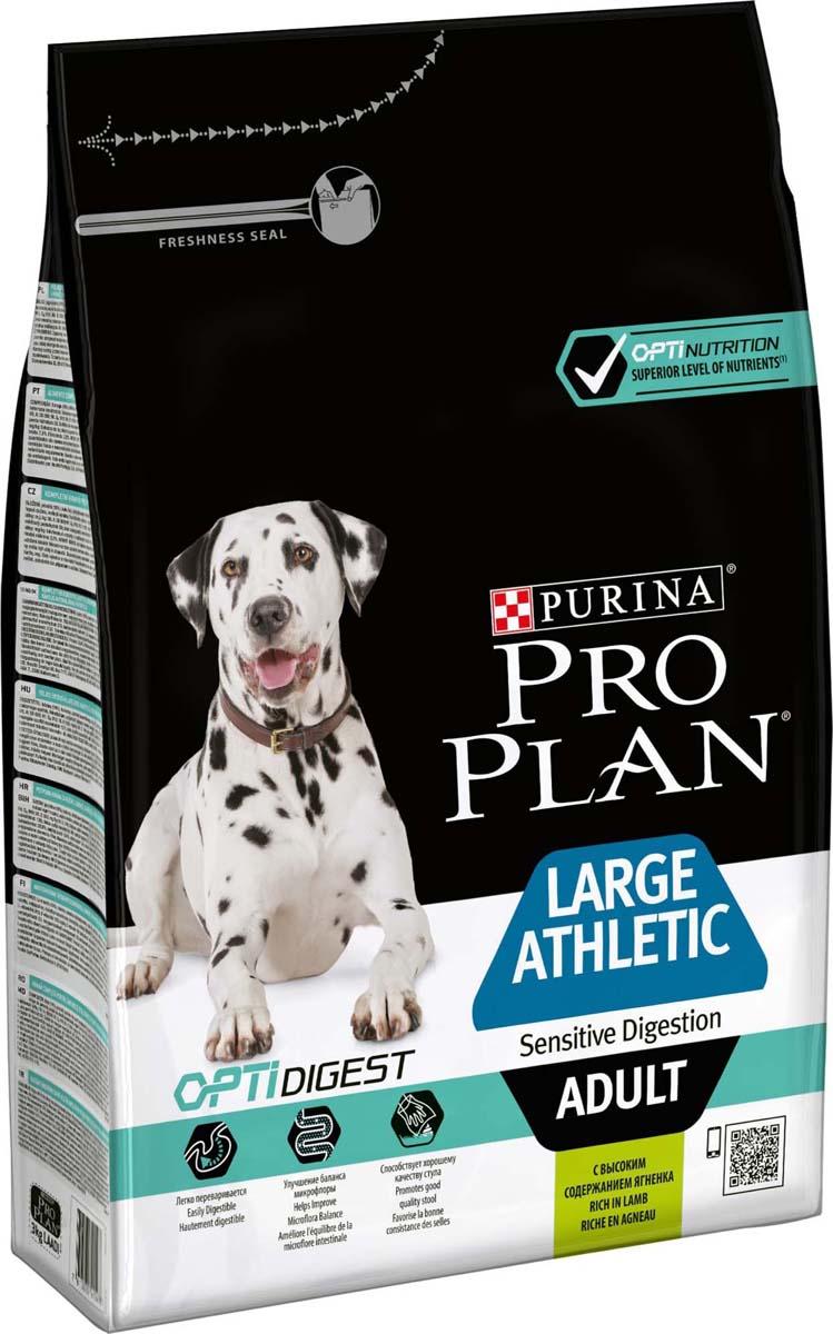 Корм сухой Pro Plan Adult Large Athletic, для взрослых собак крупных пород с атлетическим телосложением, с ягненком, 3 кг корм для собак pro plan athletic для крупных пород курица сух 14кг