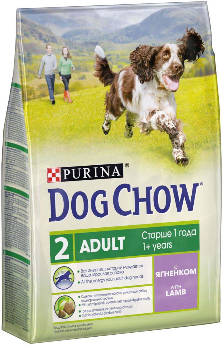 """Корм сухой Dog Chow """"Adult"""" для взрослых собак, с ягненком, 2,5 кг"""