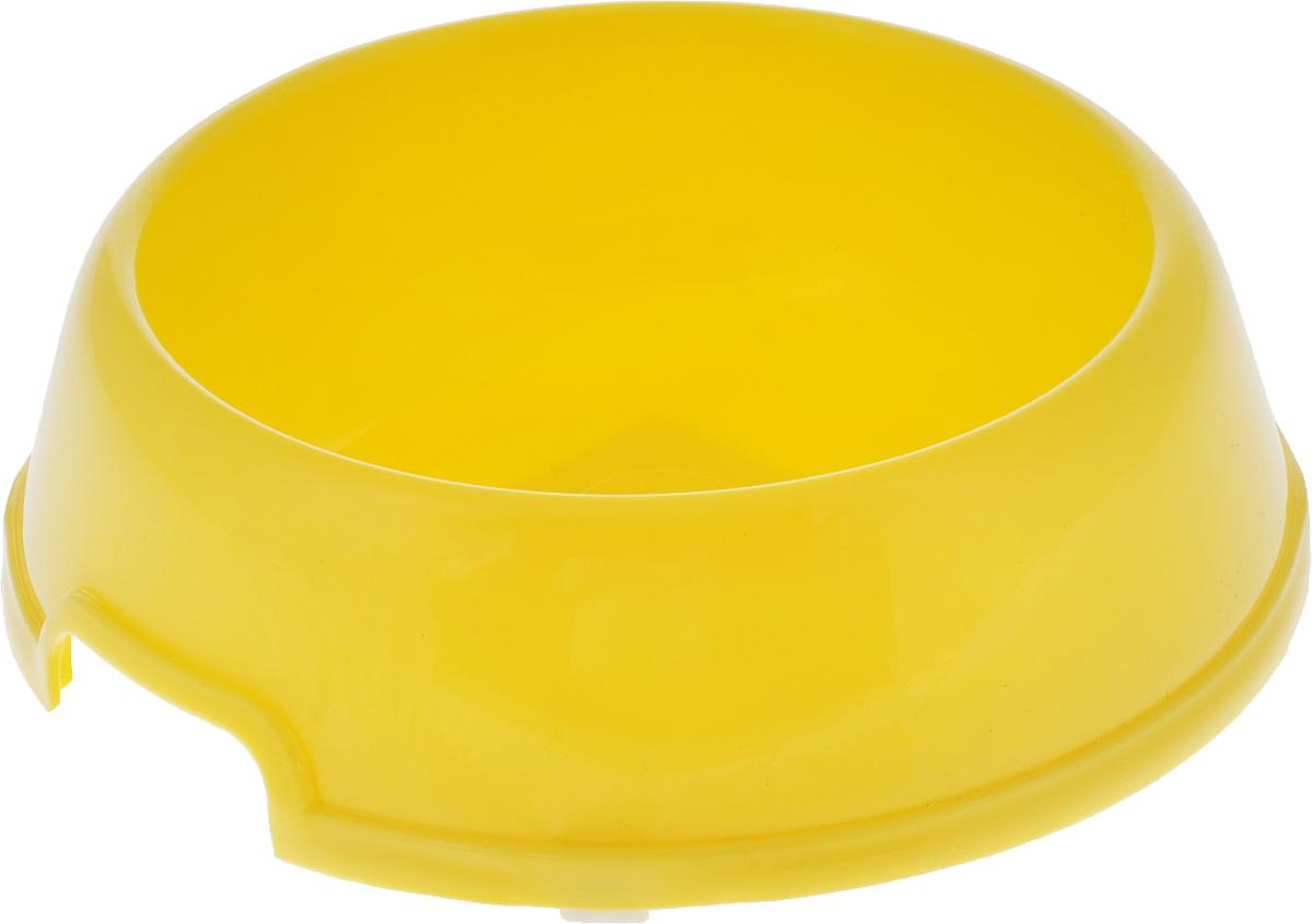 Миска для животных №1, цвет: желтый, 450 мл миска для животных vanness цвет горчичный 236 мл