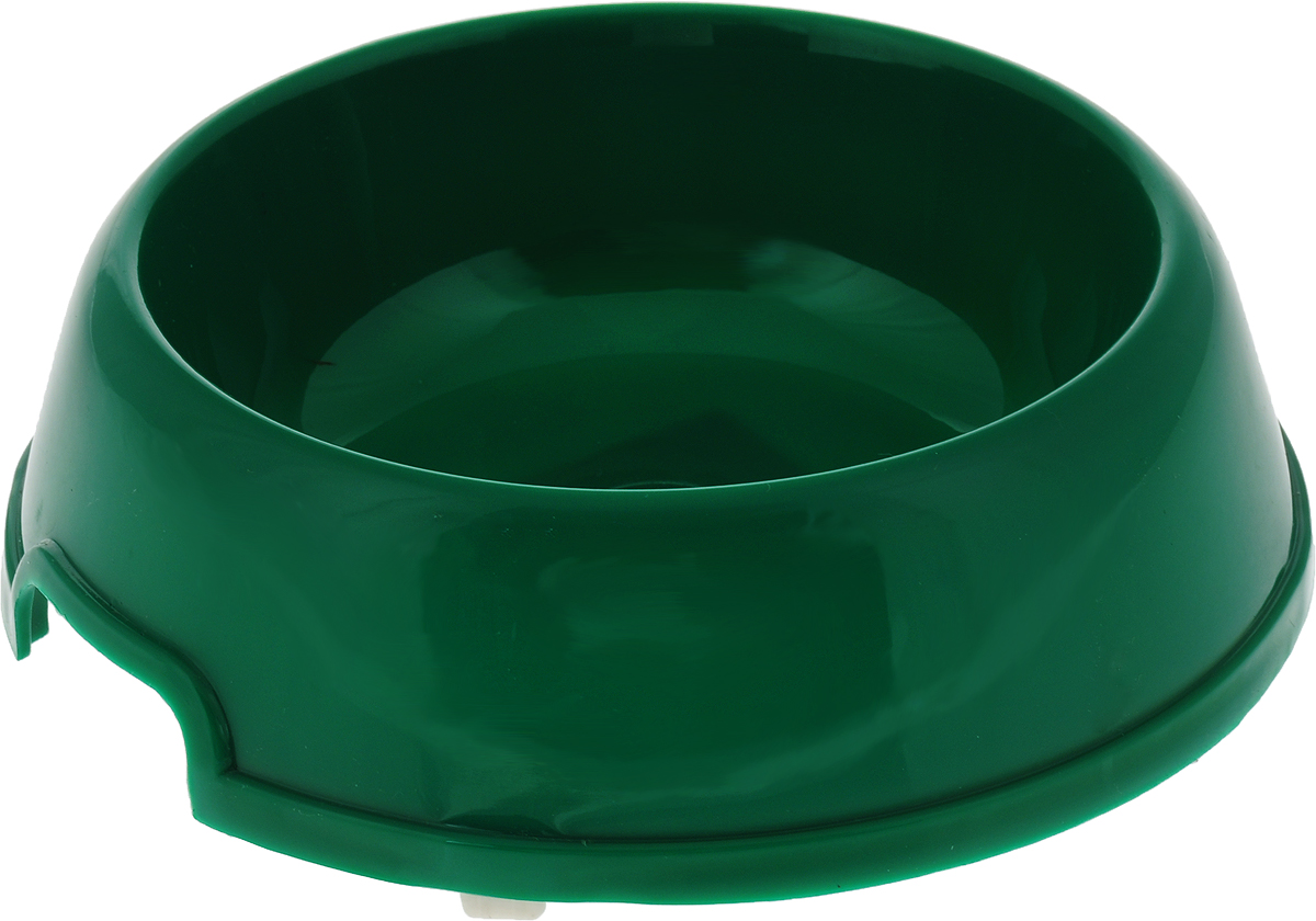 Миска для животных №1, цвет: зеленый, 450 мл миска для животных vanness цвет горчичный 236 мл