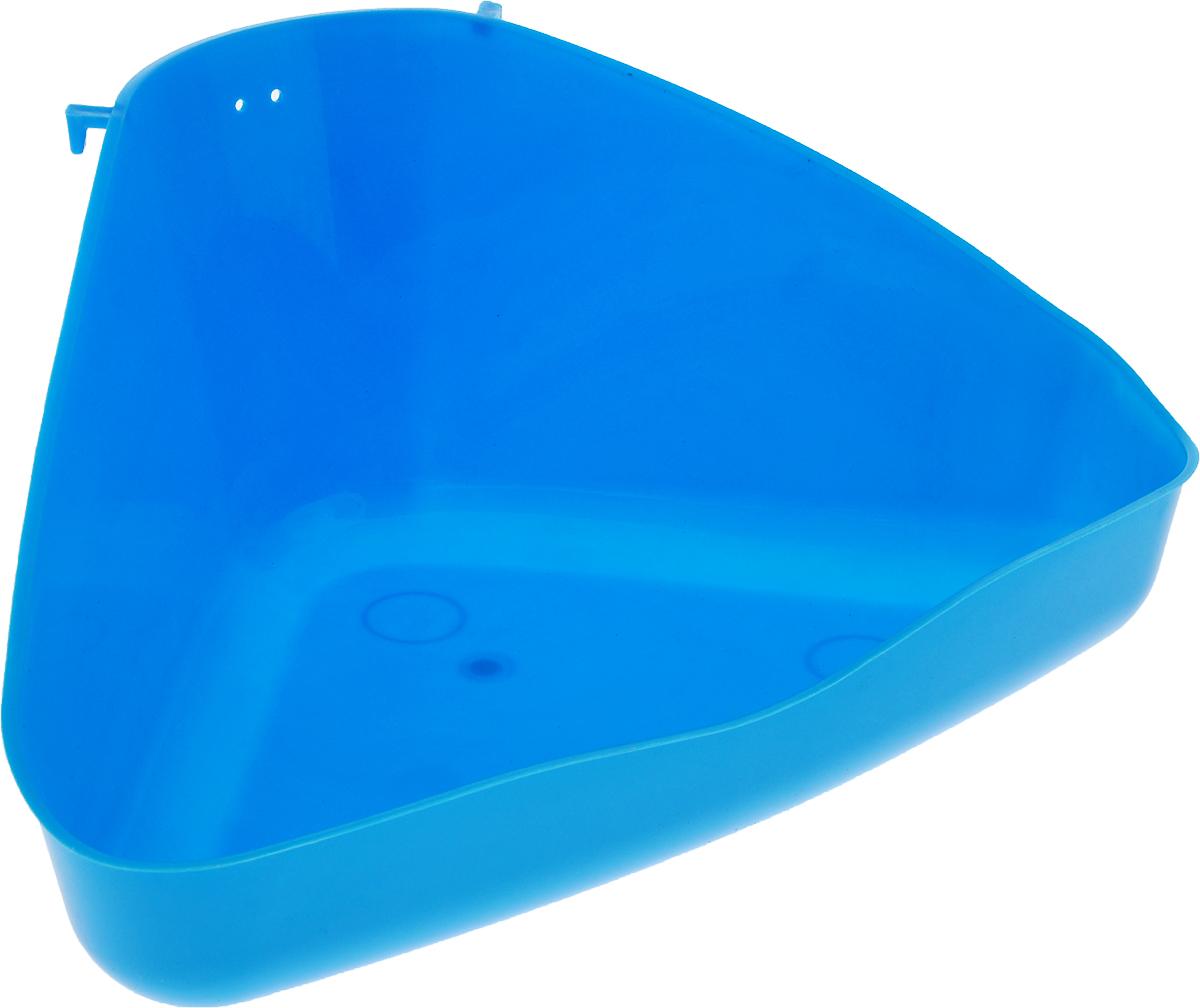 Туалет для грызунов Trixie, угловой, цвет: голубой, 36 х 21 х 30 см статуэтка кролик 30 х 20 х 29 см