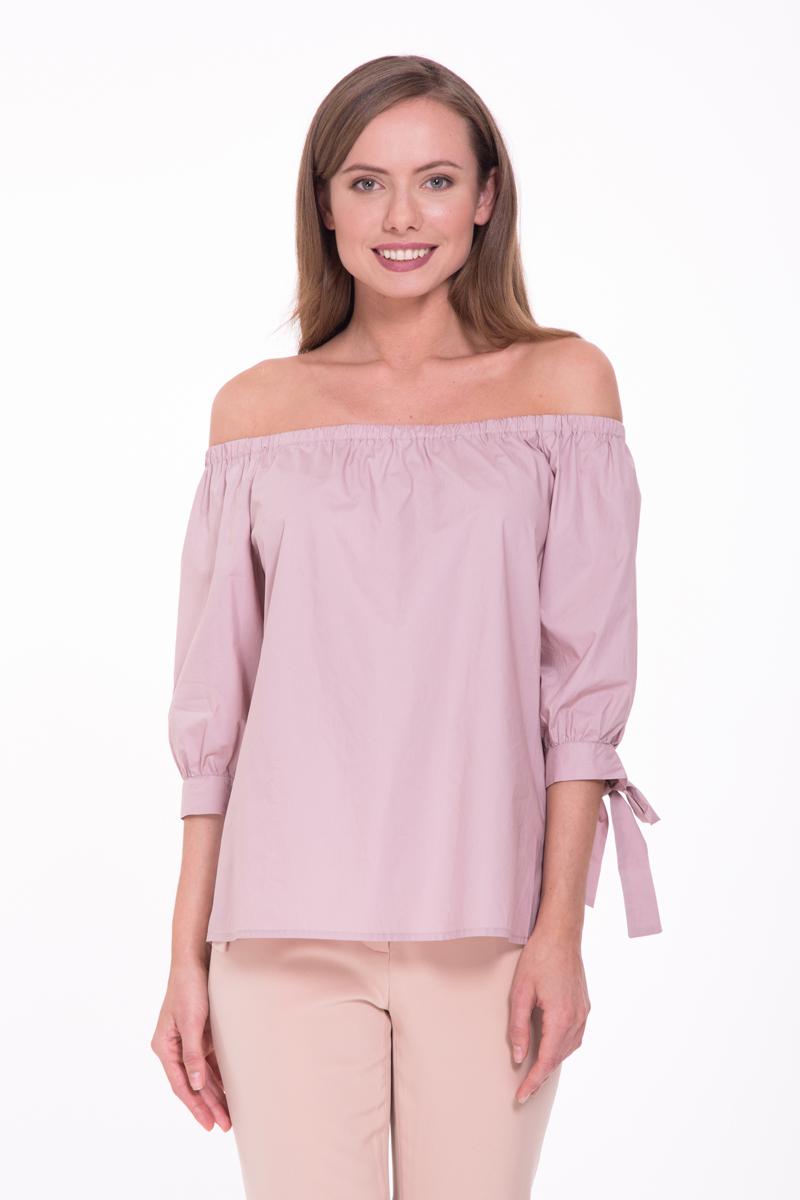 Блузка женская Lusio, цвет: розовый. SS18-370018. Размер XS (40/42)