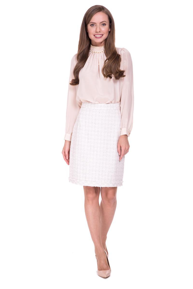 Юбка Lusio, цвет: кремовый. SS18-030004. Размер XS (40/42) платье lusio цвет сиреневый ss18 020223 размер xs 40 42