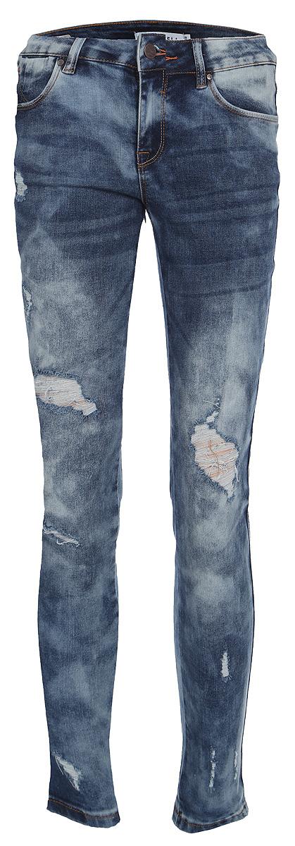 Брюки женские Sela, цвет: синий джинс. PJ-335/800-8213. Размер 29-32 (46-32)PJ-335/800-8213