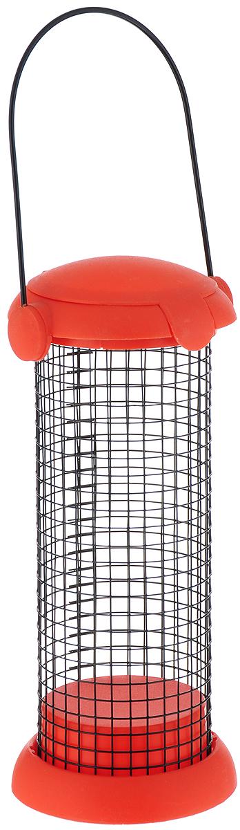 Кормушка для птиц Garden Show Бункер, для крупнозернового корма, цвет: оранжевый466060_оранжевый