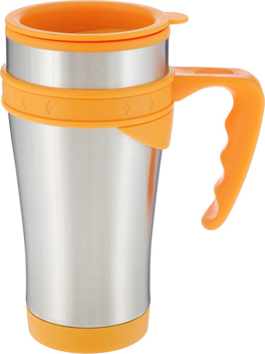Термокружка MiEssa Aqua, цвет: оранжевый, 420 мл. MSP-6616AMSP-6616A_оранжевый