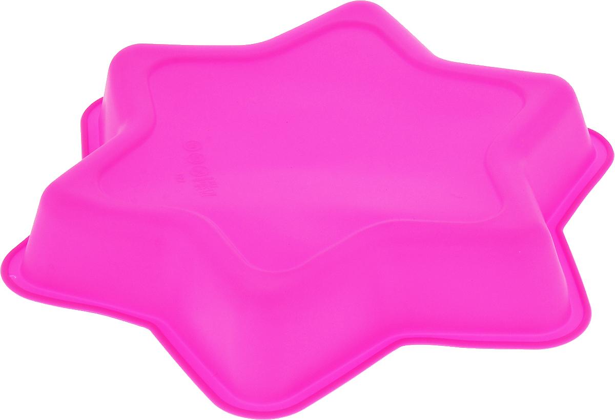 """Форма для выпечки Доляна """"Звезда"""", цвет: розовый, 25 х 25 х 4 см   Как выбрать форму для выпечки – статья на OZON Гид."""