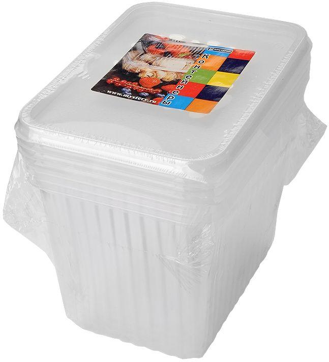 Набор одноразовых контейнеров Мистерия, прямоугольные, 1,5 л, 5 шт набор одноразовых контейнеров мистерия прямоугольные 750 мл 5 шт 186526