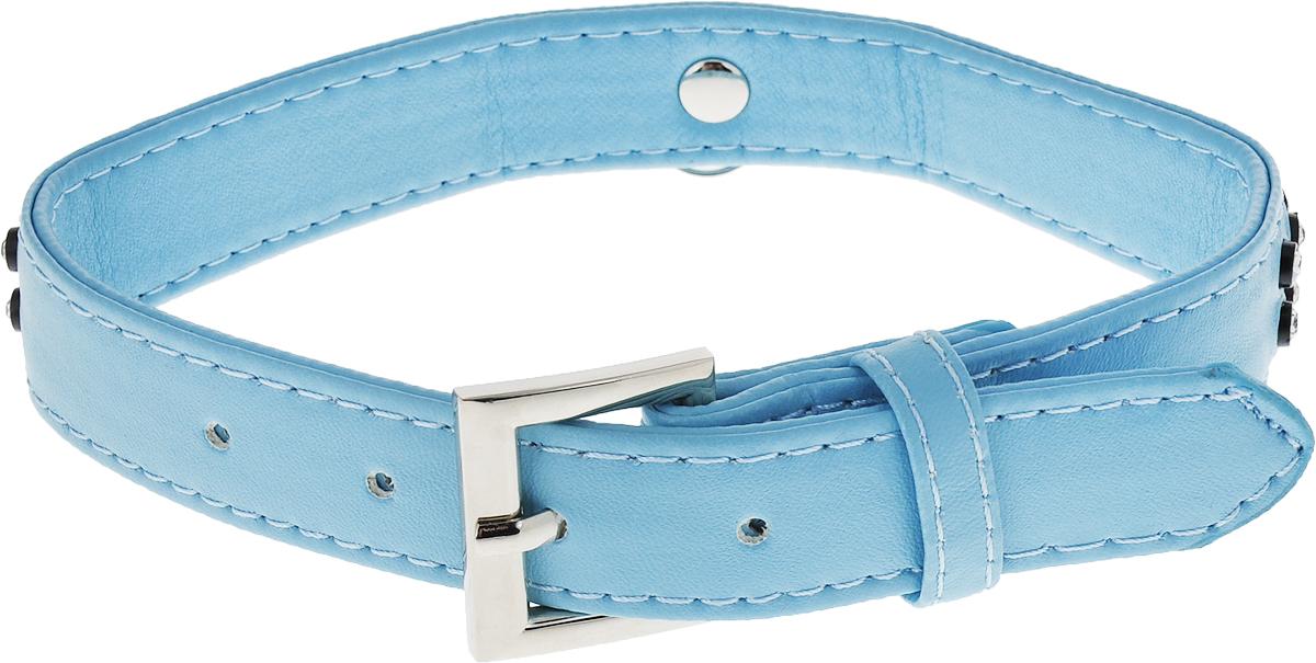Ошейник для собак GLG, цвет: голубой, 2 x 42 см грейфер для собак 1 2 узла с косточкой 32 см
