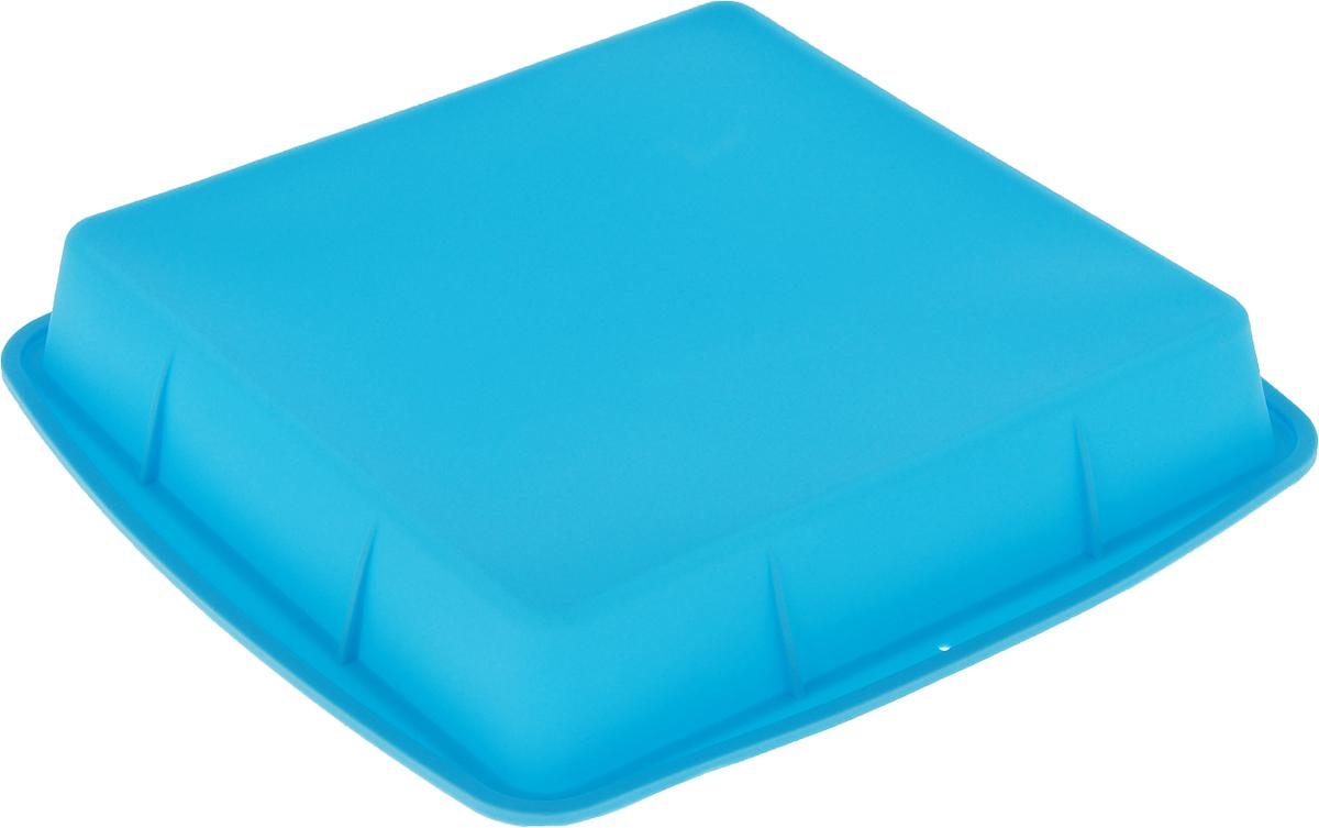 Форма для выпечки Доляна Квадро, цвет: голубой, 27 х 27 х 4 см1000348_голубойФорма для выпечки Доляна Квадро, цвет: голубой, 27 х 27 х 4 см