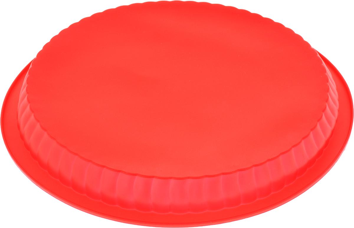 """Форма для выпечки Доляна """"Круг ребристый"""", цвет: красный, 25 х 4 см   Как выбрать форму для выпечки – статья на OZON Гид."""