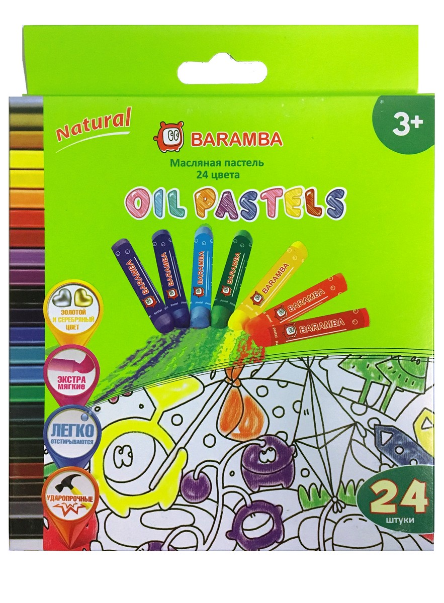 Baramba Пастель масляная 24 цвета -  Мелки и пастель