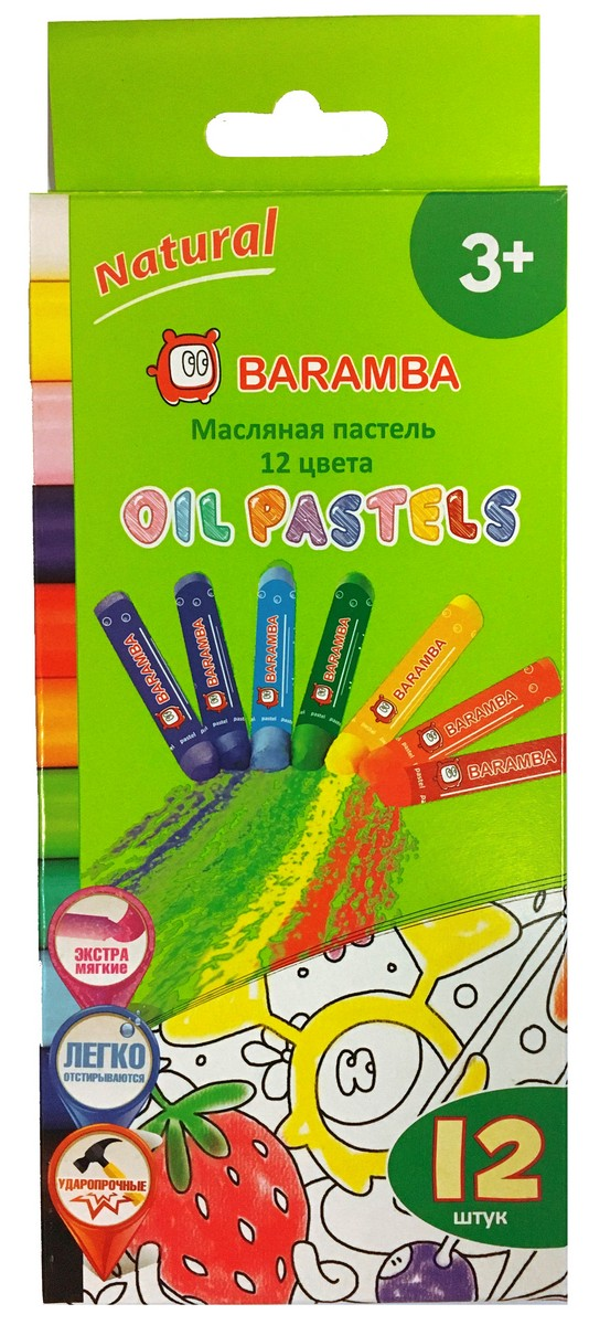 Baramba Пастель масляная 12 цветов