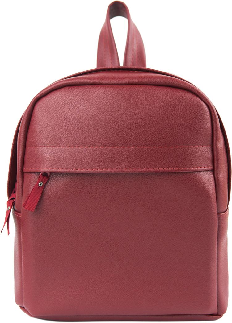 Рюкзак женский Kawaii Factory, цвет: бордовый. KW102-000477KW102-000477Рюкзак женский Kawaii Factory выполнен из натуральной кожи бордового цвета. Застегивается на молнию. Одно внутреннее отделение. Объем: 6 л. Подкладка: 100% полиэстер.
